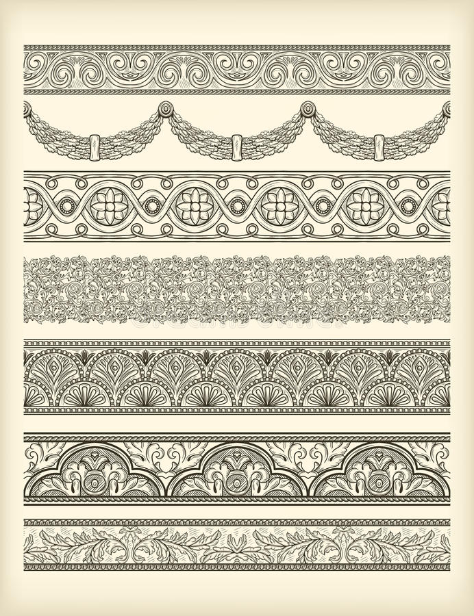 Download Set of borders stock vector. Image of art, dividing, clipart - 32666900