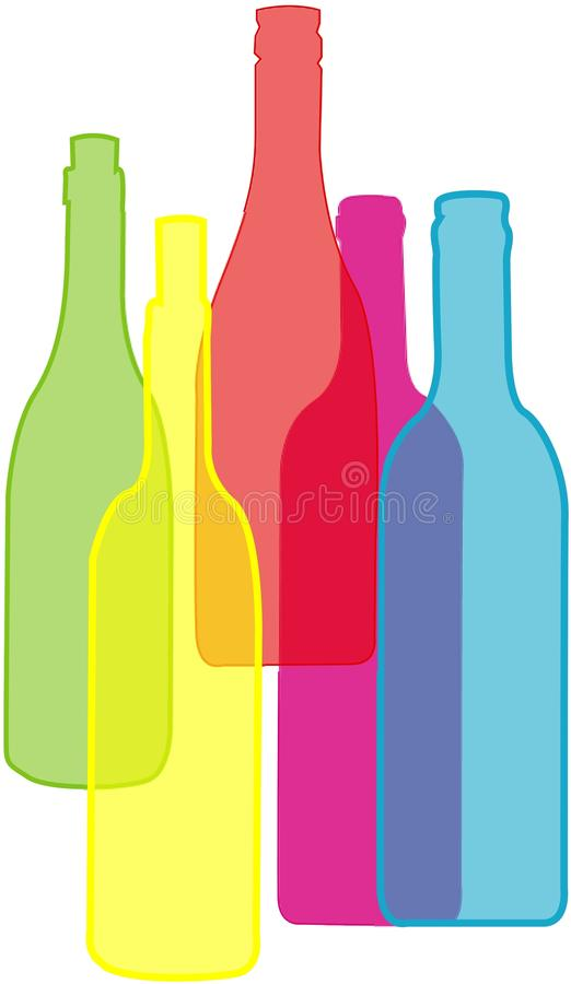 Set of bottles royalty free illustration