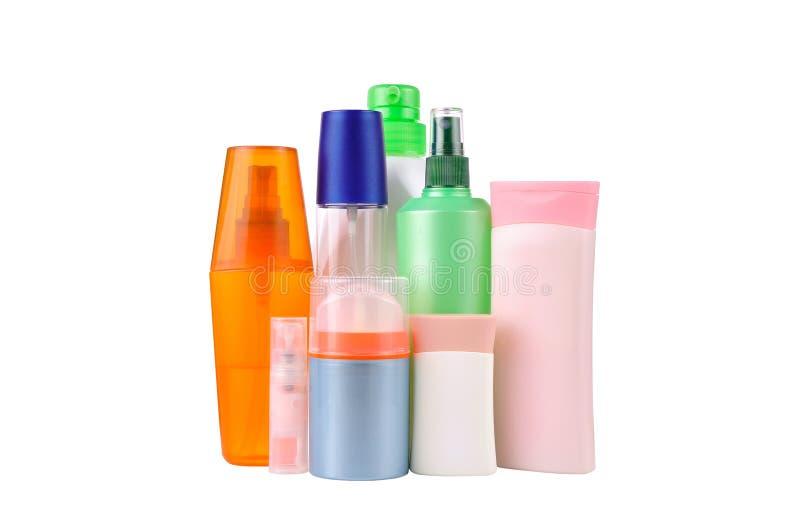 Set bottles isolated stock image