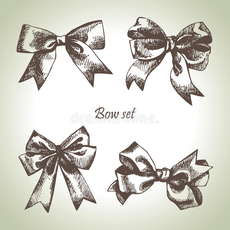 Download Set of bow stock vector. Illustration of element, anniversary - 24713259