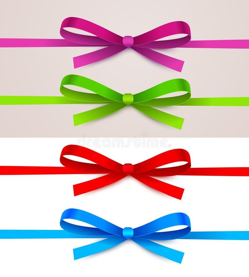 Set of bow stock image