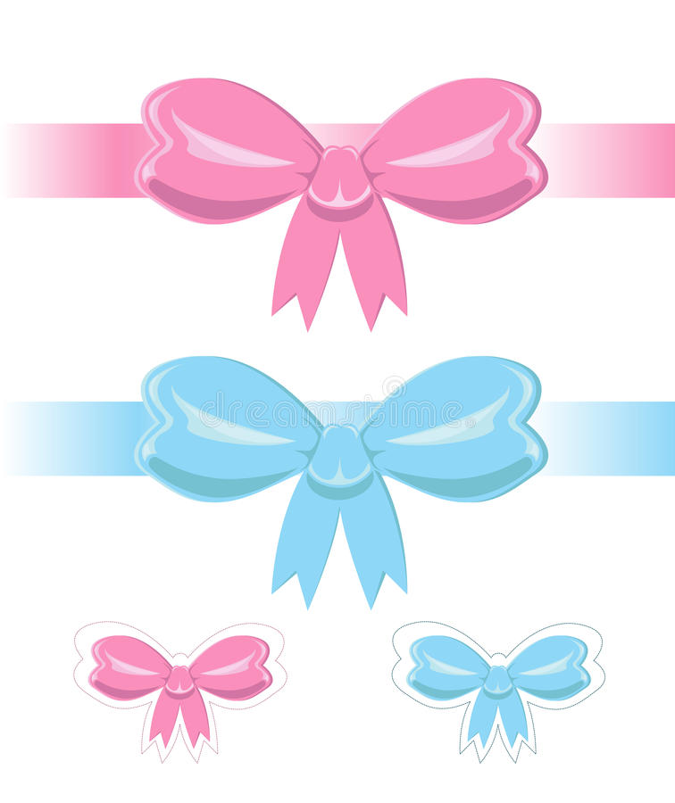 Download Set of bows stock vector. Image of joyful, lovely, small - 21698711