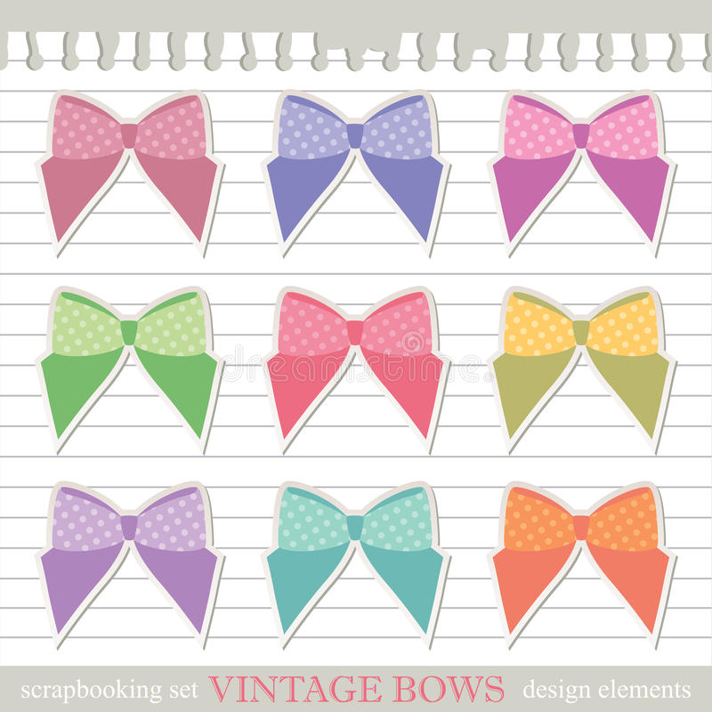 Download Set of bows stock vector. Illustration of note, label - 23952870