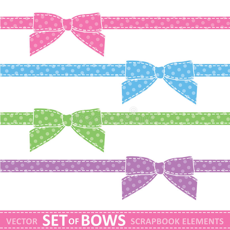 Download Set of bows stock vector. Image of ribbon, decoration - 24522307