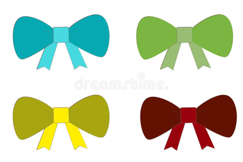 Set of bows royalty free stock photography