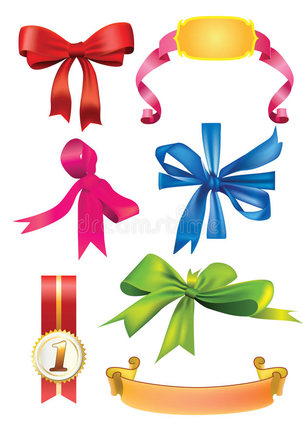 Download Set Of  Bows And Ribbons Stock Photography - Image: 17943622
