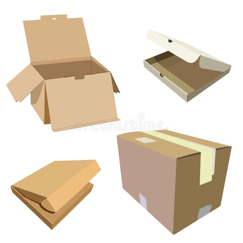 Set Of Boxes Royalty Free Stock Photo
