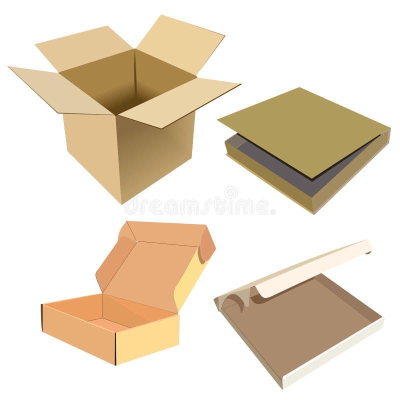 Set of boxes royalty free illustration