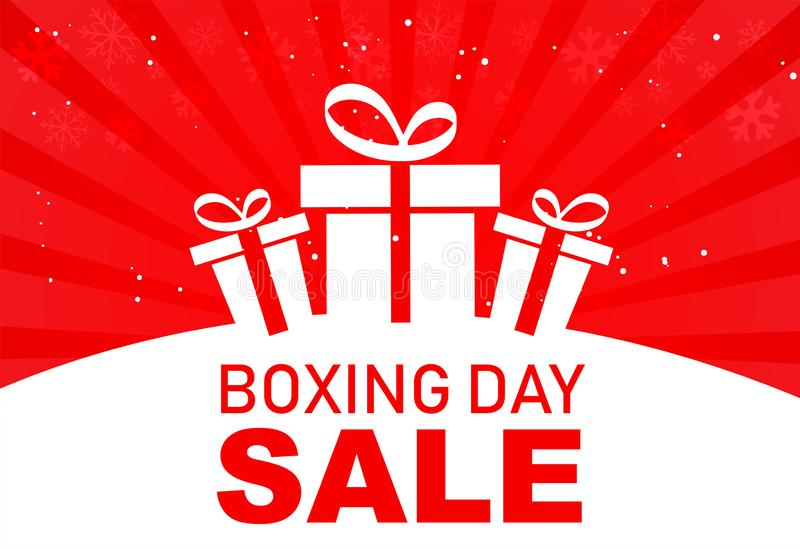 Set of boxing day sale symbol or icons. Calligraphic design of boxing day sale. Vector illustration vector illustration