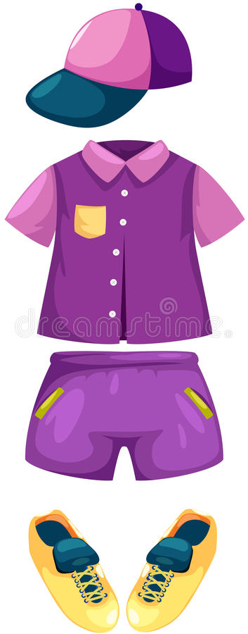 Download Set of boy clothes stock vector. Image of color, sneakers - 28089259