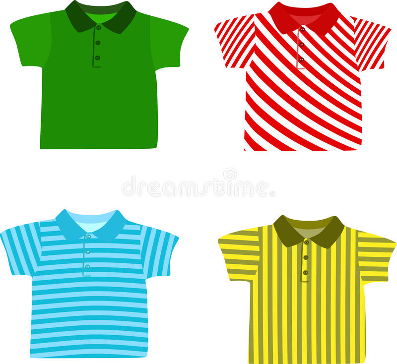 Set of Boy's shirts royalty free illustration