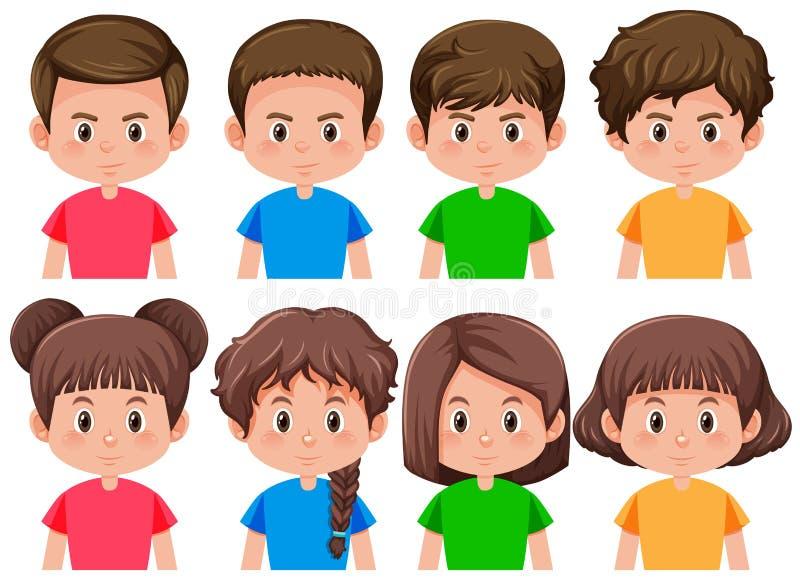 Set of boys and girls. Illustration royalty free illustration