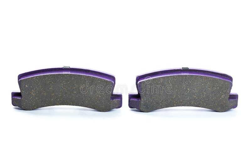 Brake pads isolated on white stock photos