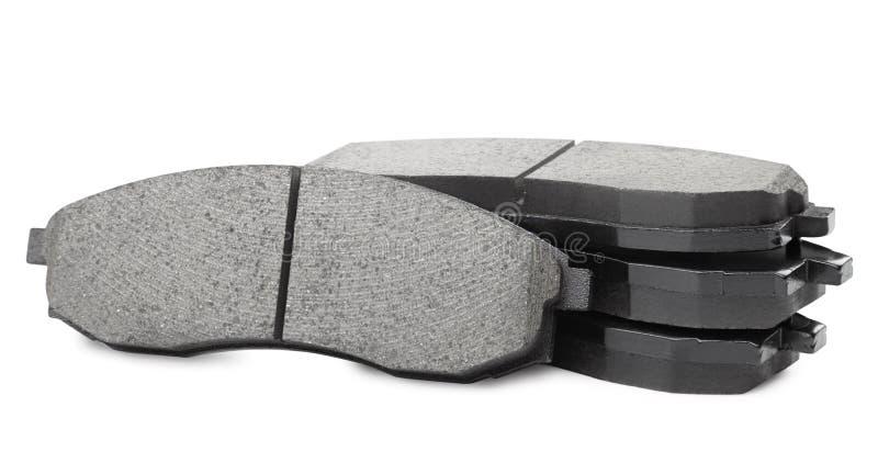 Set of brake pads royalty free stock photography