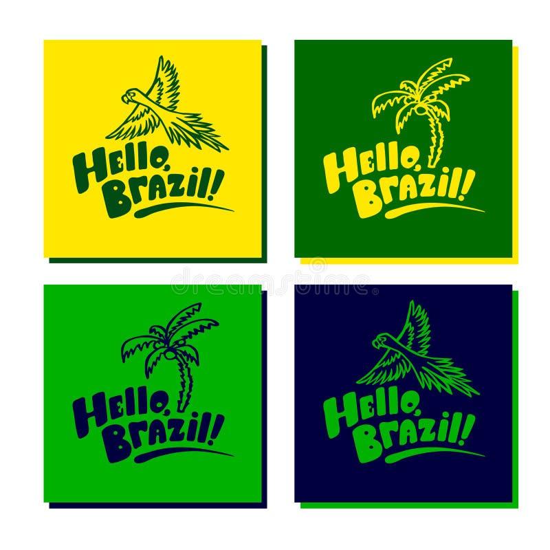 Set of brazil cards with logo stock vector illustration of america download set of brazil cards with logo stock vector illustration of america location m4hsunfo