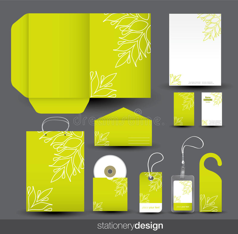 set brevpapper för design stock illustrationer