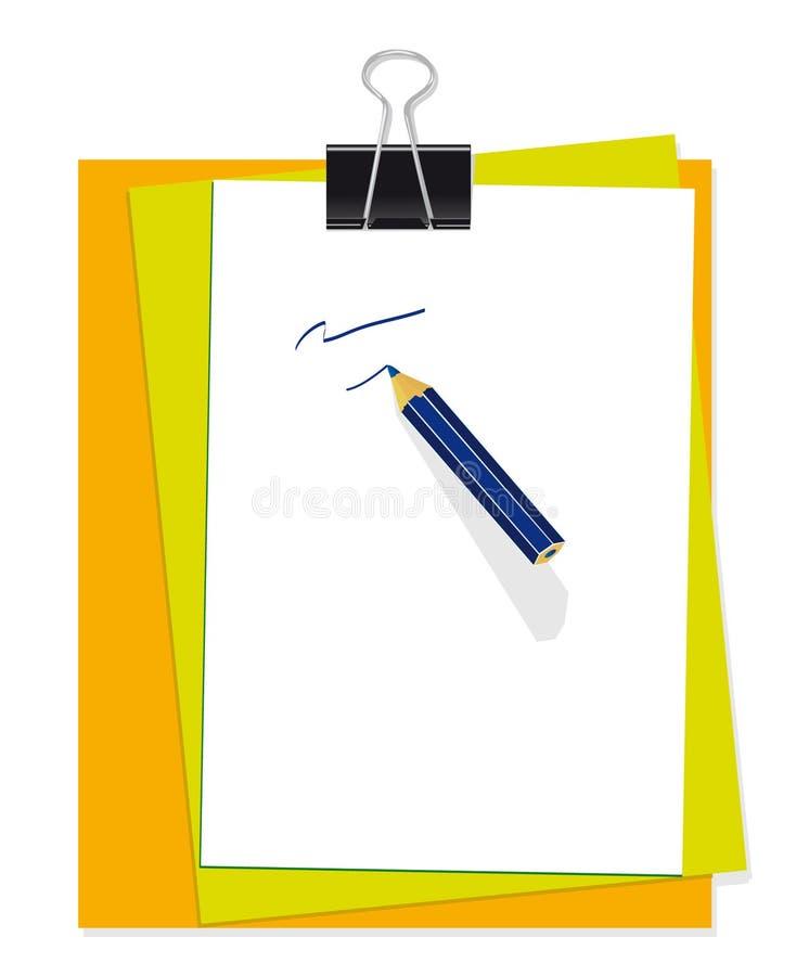 set brevpapper för kontor vektor illustrationer