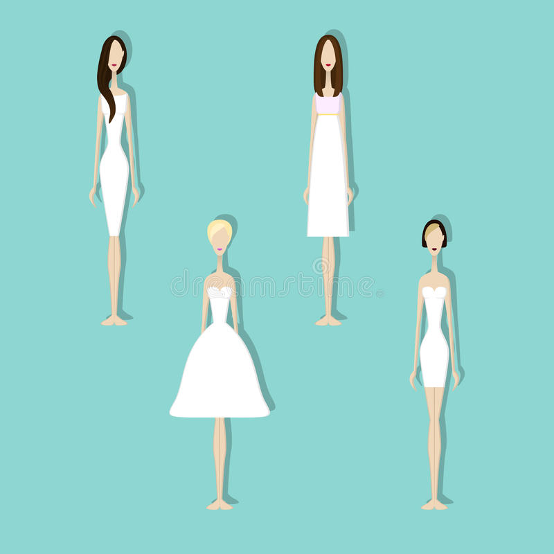 Set of brides stock vector. Illustration of flat, boutique - 93340286