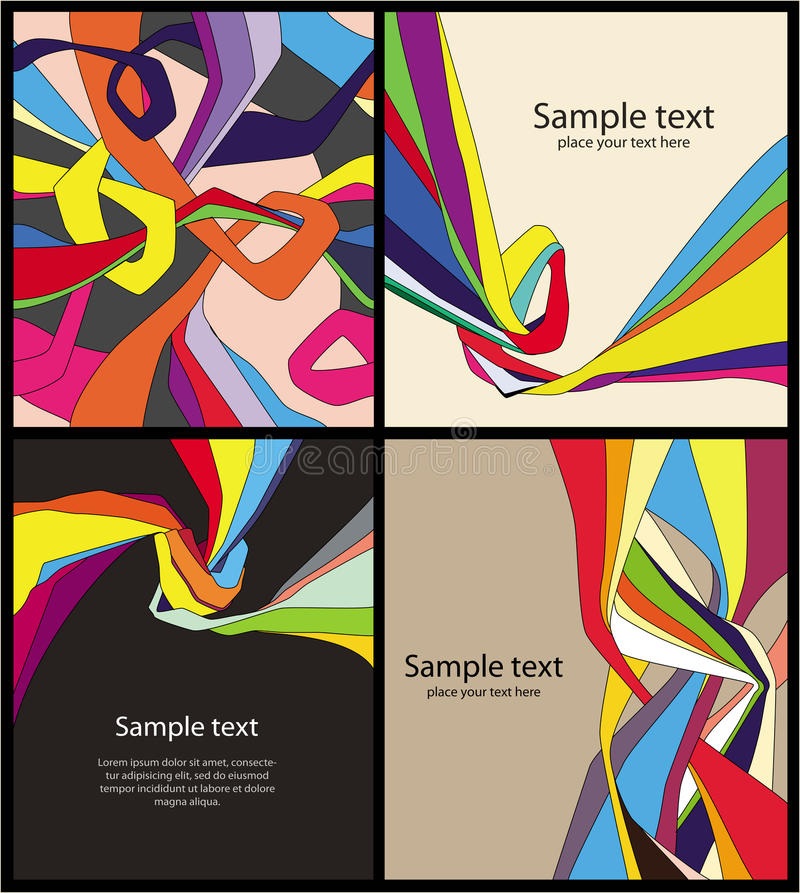 Download Set of bright  backgrounds stock vector. Image of bright - 18723386