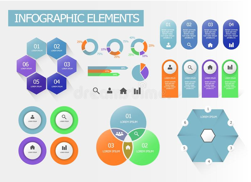 A set of infographic elements vector illustration