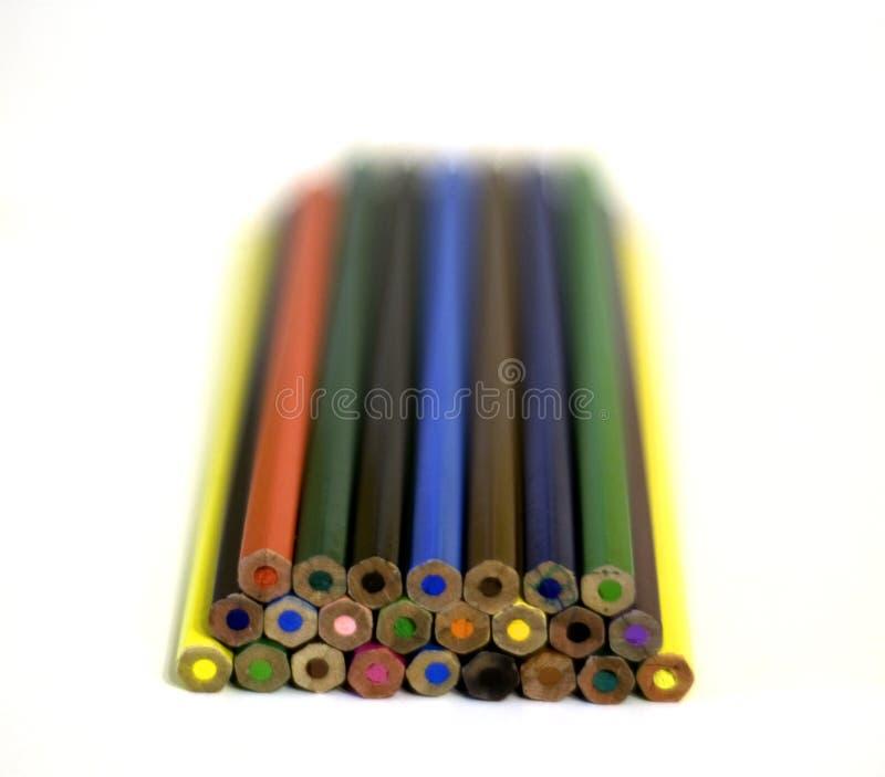 Set Of Bright Colour Pencils Royalty Free Stock Photos