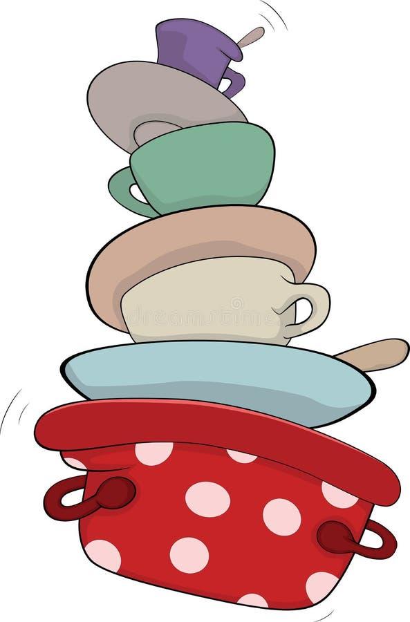 Download Kitchenware cartoon stock vector. Image of dish, drink - 30232869