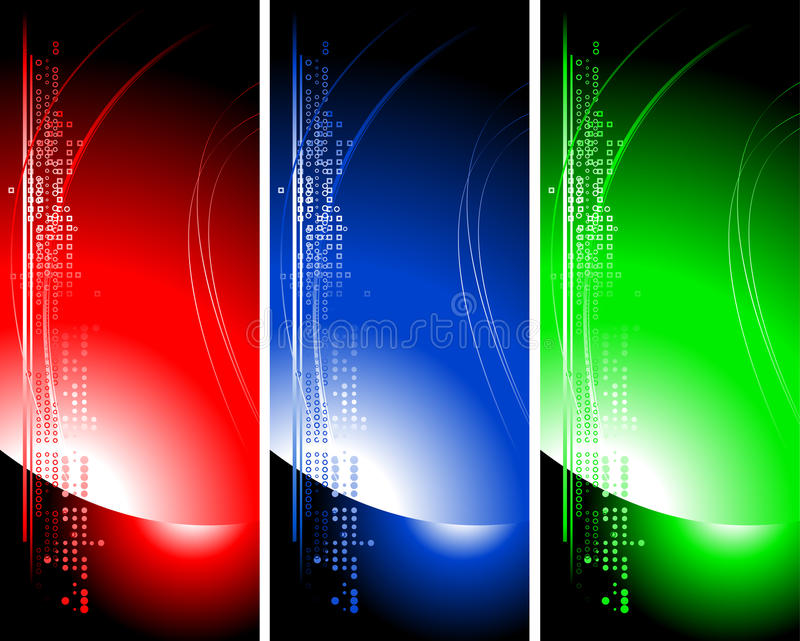 Set of bright technical banners vector illustration