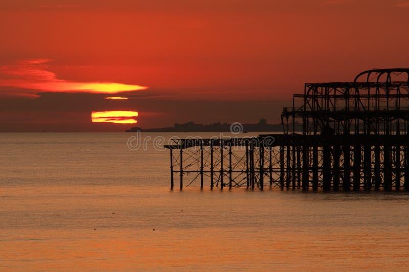 Set Brighton-Sun stockfotos