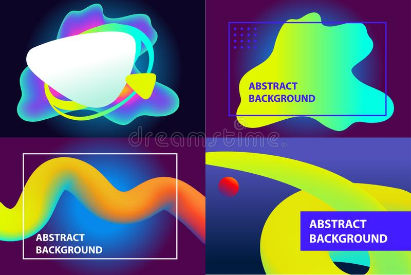 Set of brochure cover of web page, catalog design. Abstract background. Light effect. Template banner, poster, flyer. Composition of gradient color geometric vector illustration