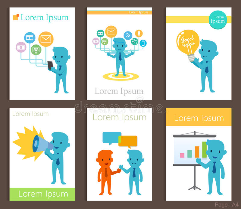 Set of brochure design business communication templates stock vector download set of brochure design business communication templates stock vector illustration of entertainment background accmission Choice Image