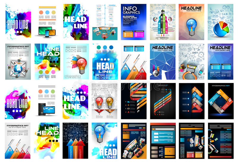 Set of Brochure, Flyers and layout templates for you projects vector illustration