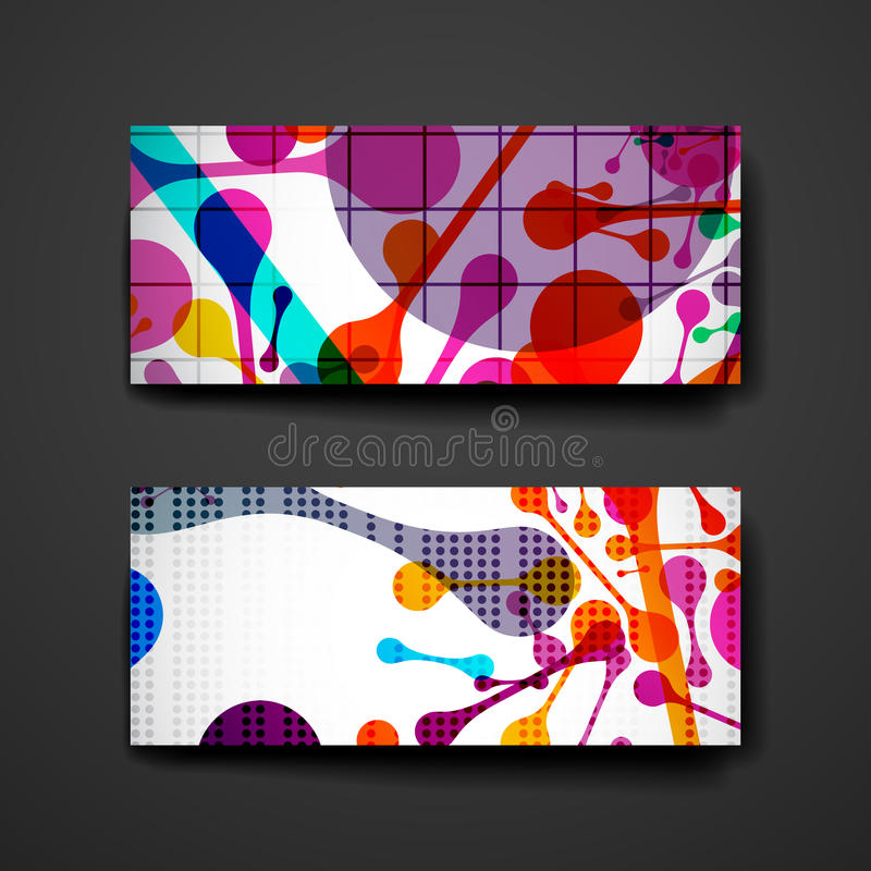Set of brochure, poster design templates in abstract background style. Set of brochure, poster templates in abstract background style. Beautiful design and stock illustration