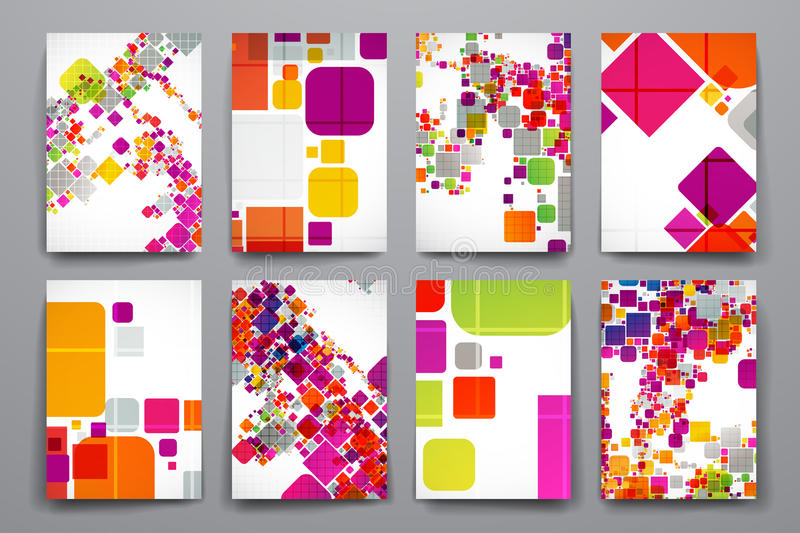 Set of brochure, poster design templates in abstract style royalty free illustration