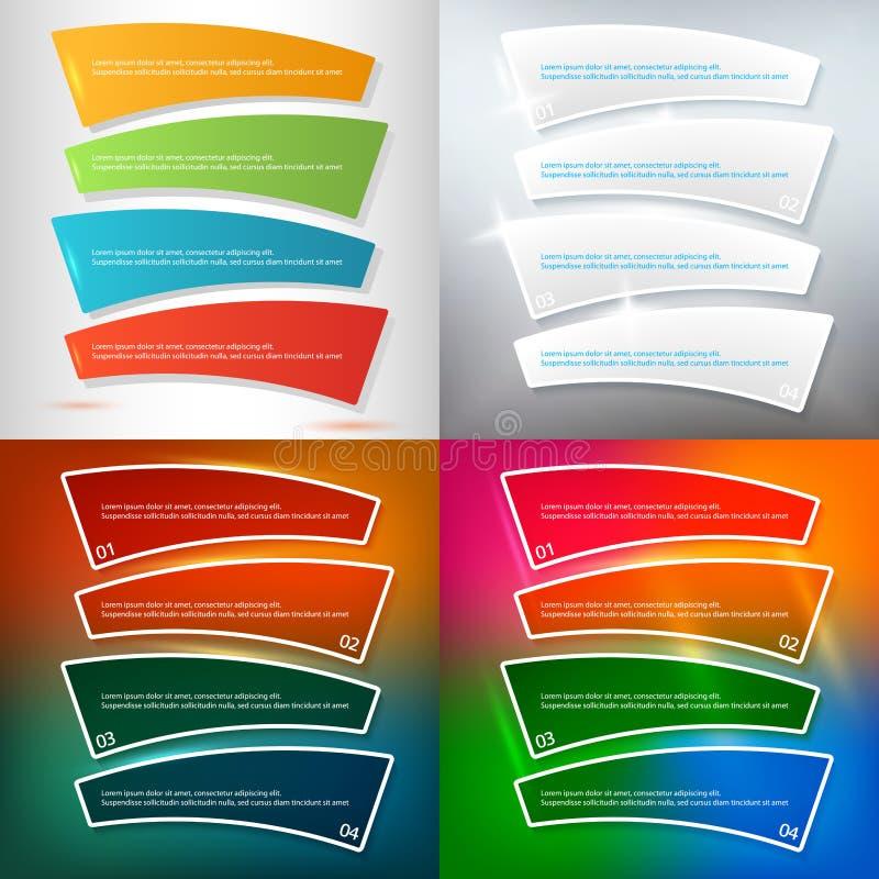 Set brochure template page number of steps presentations02. Set Design business presentation template. Vector illustration for technology infographics, number vector illustration