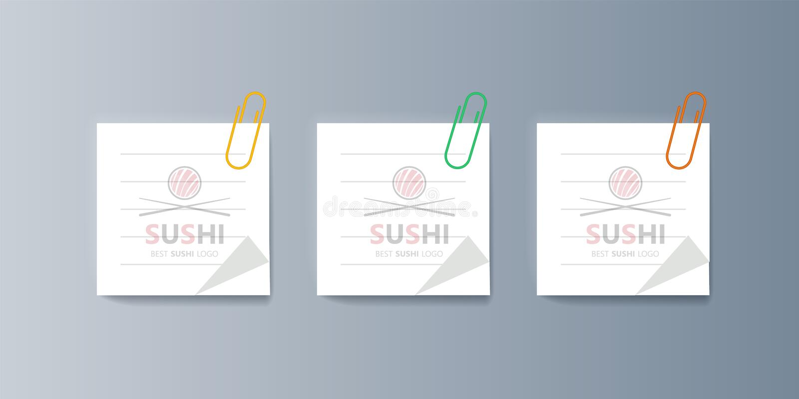 Set of brochures Sushi for marketing the promotion goods and services on market vector illustration