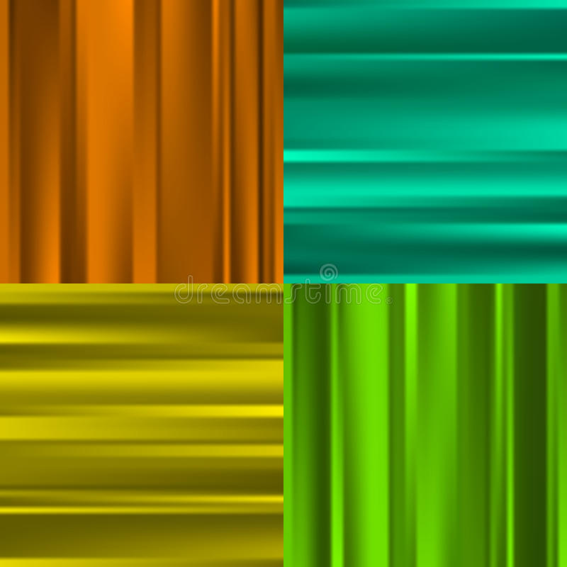 Set bronze texture. Paper gift or texture of blue green gold bronze metal vector illustration
