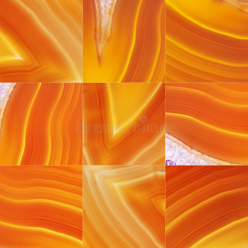 Set of Brown Agate royalty free stock photo