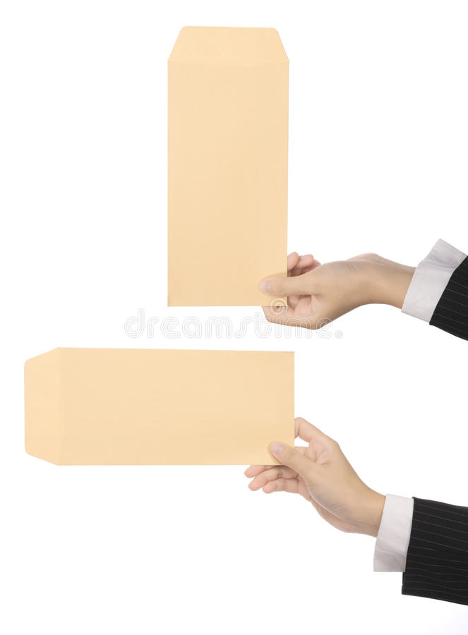 Set Of Brown Envelope stock photo