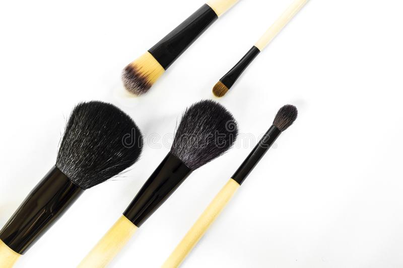 A set of brushes for make-up royalty free stock photos