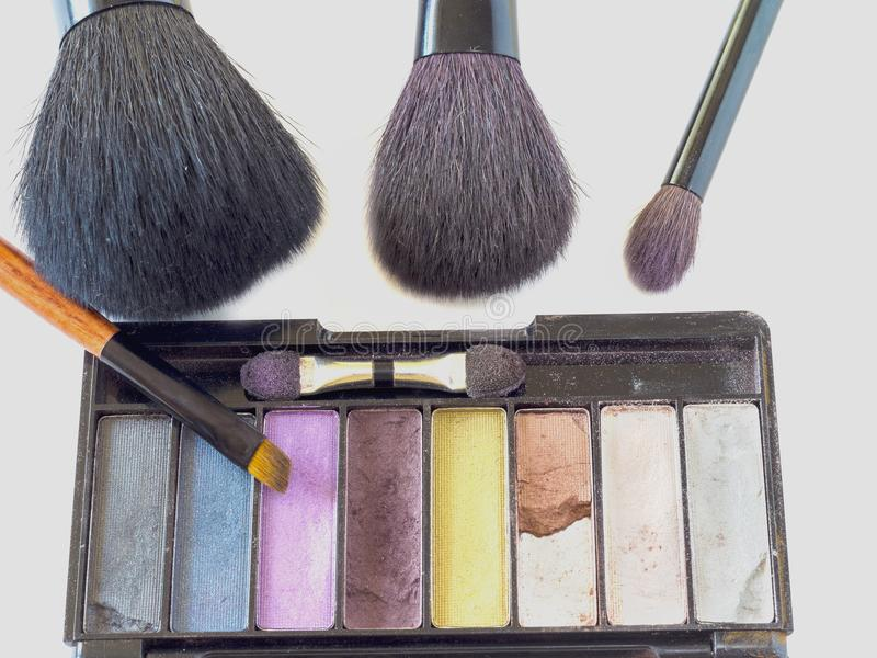 A set of brushes for make-up royalty free stock image