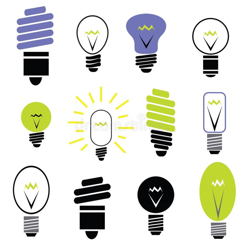 Download Set of bulbs stock vector. Image of doodle, invention - 33580406