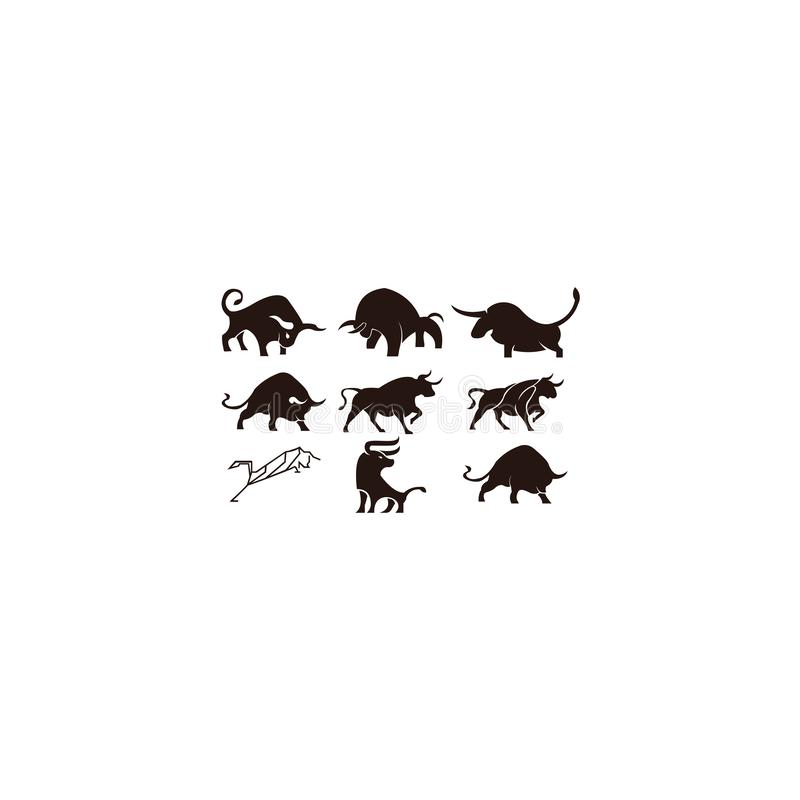 Bull horn animal silhouette farm icon. Isolated and flat illustration. Vector graphic stock illustration