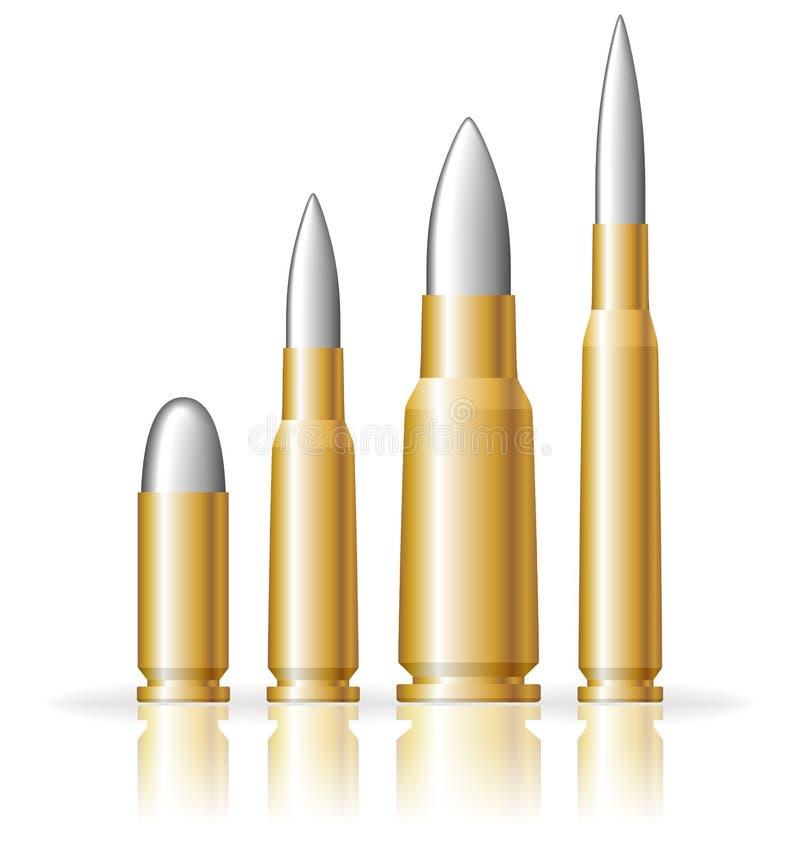 Set of bullets stock photo