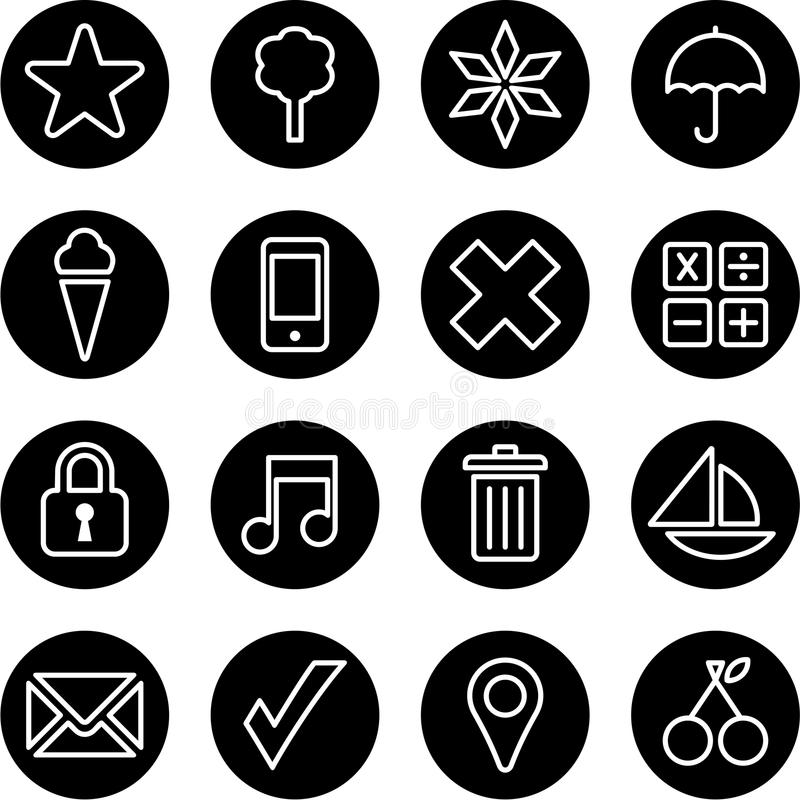 Download Set of business buttons stock photo. Image of mobile - 34472824