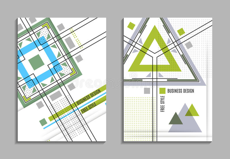 Set of business card abstract geometric design brochure title download set of business card abstract geometric design brochure title sheet reative text reheart Image collections
