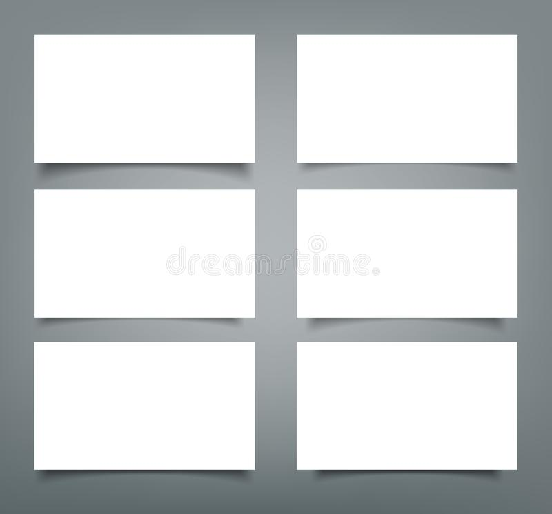 Set of business card blank with shadow mockup cover template stock download set of business card blank with shadow mockup cover template stock vector illustration of fbccfo Images