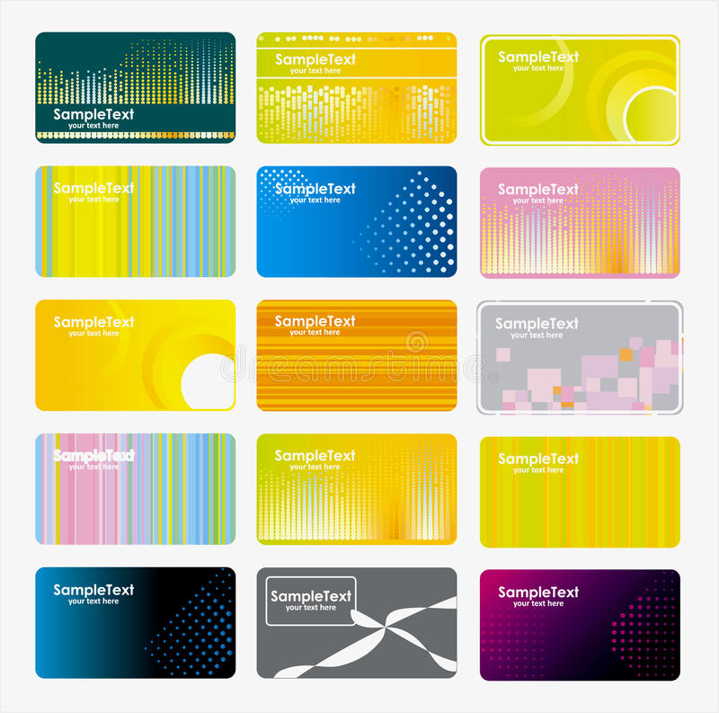 Download Set of business cards stock illustration. Image of brand - 10030047