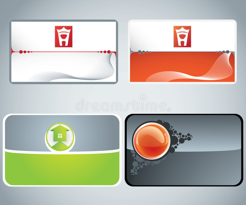 Set of business cards stock illustration