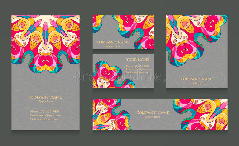 Set of business cards and banners stock vector illustration of download set of business cards and banners stock vector illustration of cards floral colourmoves