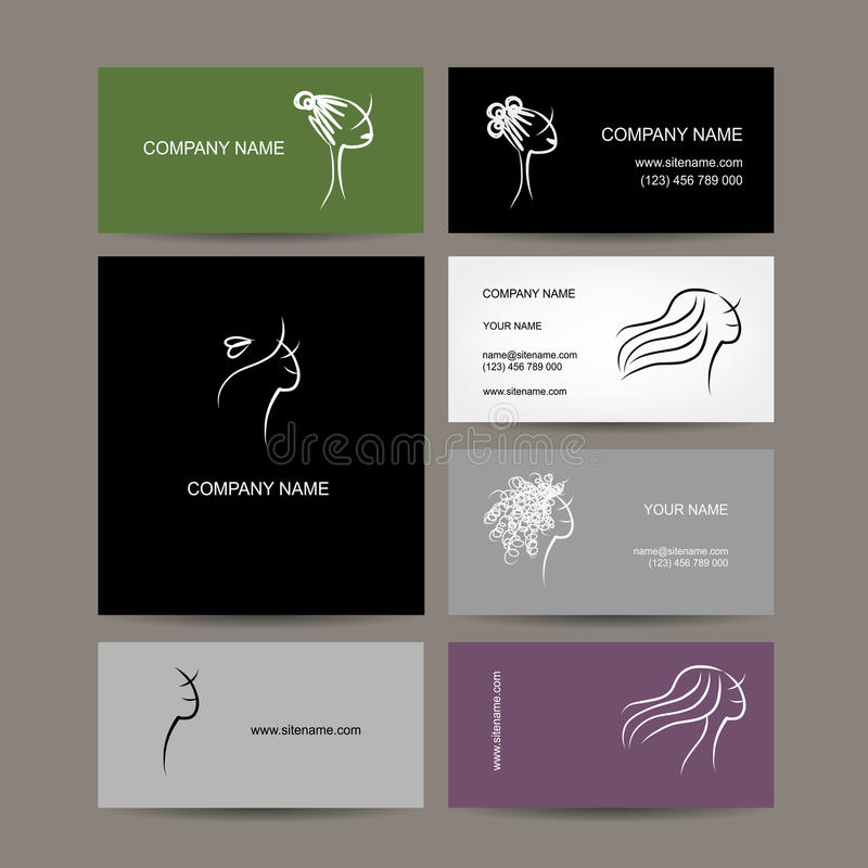 Exelent Hairstyle Business Cards Illustration - Business Card Ideas ...